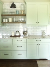 Light Green Cabinets - Cottage - kitchen - Benjamin Moore ...