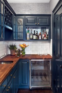 Navy Cabinets - Contemporary - kitchen - Blair Harris ...