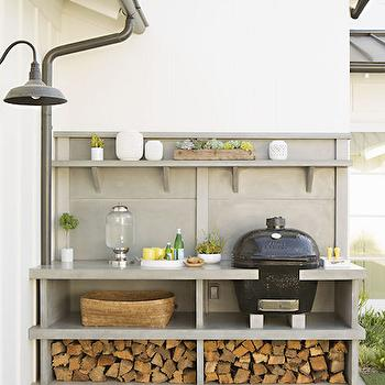small black kitchen table best brand for appliances hidden bbq nook - transitional deck/patio inspiration ...