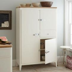 Kitchen Armoire Angled Cabinets White Cabin