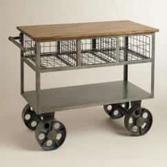 Metal Kitchen Carts Pulls And Handles For Cabinets Bryant Grey Mobile Cart