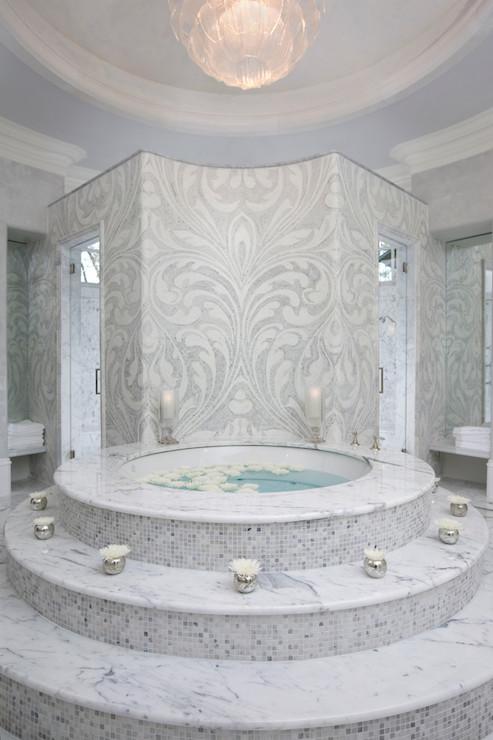 Steps To Bathtub Contemporary Bathroom Habachy Design