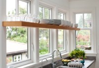 Shelf in Front of Window - Contemporary - kitchens - BC ...