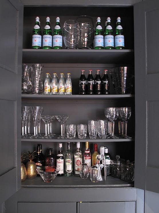 Built In Bar Cabinet  Transitional  living room  47 Park Avenue