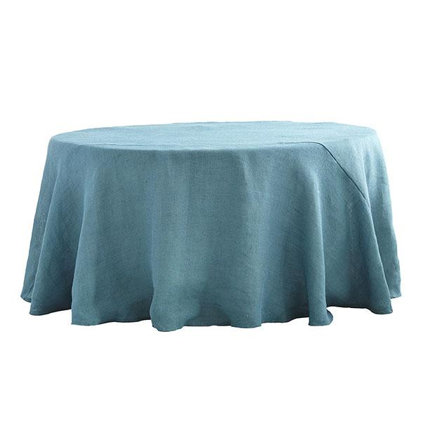 chairs 4 less transitional occasional round burlap dusty blue tablecloth