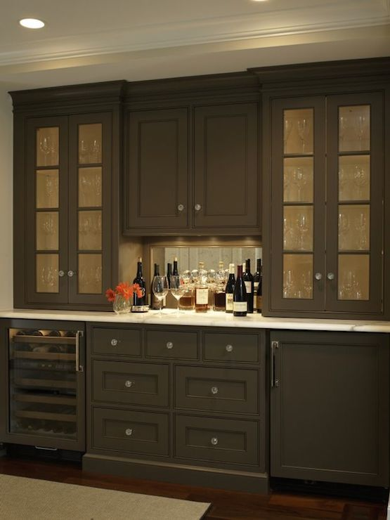 Hidden Liquor Cabinet  Eclectic  dining room