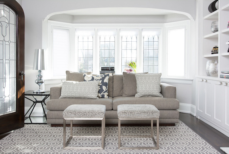 Sofa In Bay Window Transitional Living Room Jodie