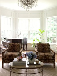 Leopard Pouf - Contemporary - living room - Palmer Weiss