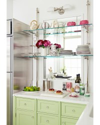Glass Kitchen Shelves - Transitional - kitchen - One Kings ...