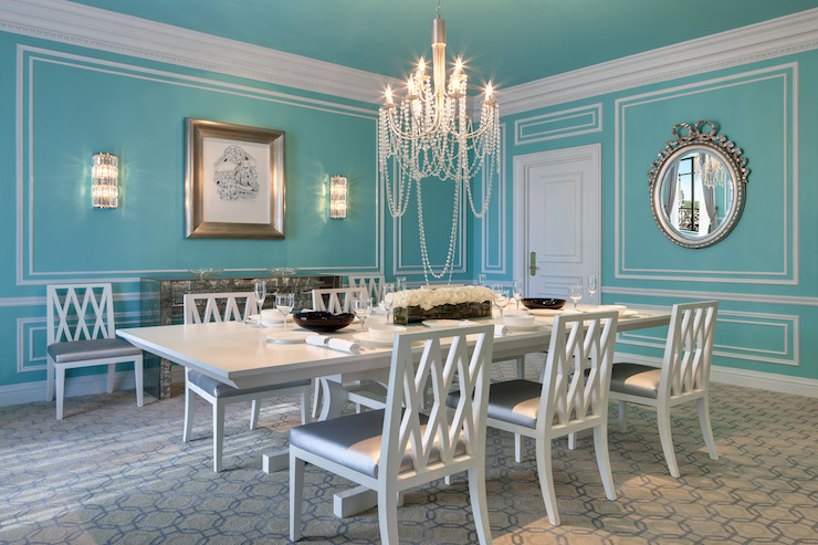 silver dining chair cushions lifetime chairs and tables tiffany blue room - transitional the st regis new york