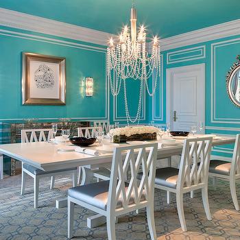 Tiffany Blue Dining Room Design Ideas