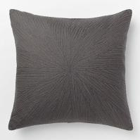 Embroidered Starburst Pillow Cover Slate - West Elm