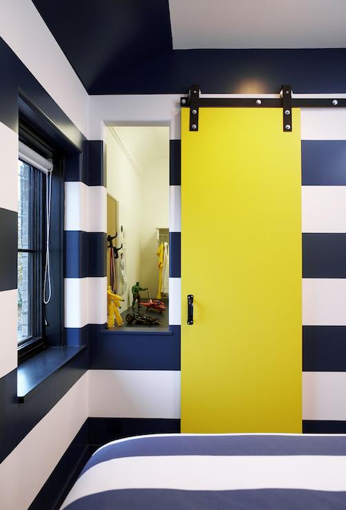 Yellow Door  Contemporary  boys room  Leo Designs Chicago