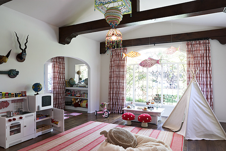 Pinterest Girls Kids Rooms With Wood Wallpaper Pink Playroom Cottage Girl S Room Kristen Panitch