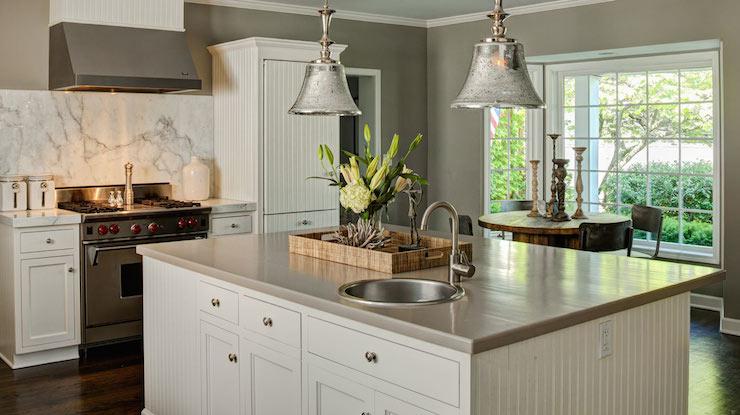 Mercury Glass Bell Jar Pendants  Traditional  kitchen