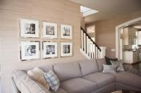 Mirrored Frames - Transitional - living room