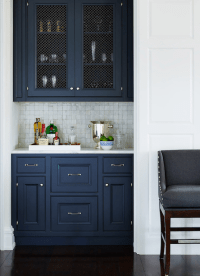 Navy Cabinets - Transitional - kitchen - Andrew Howard ...