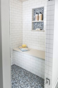 Penny Shower Floor - Transitional - bathroom - Casa Verde ...