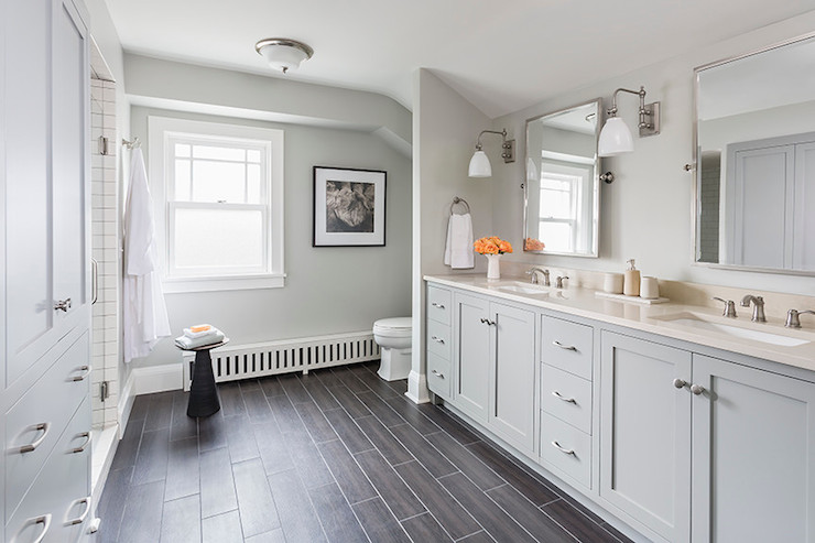 Wood Like Tile  Transitional  bathroom  Benjamin Moore