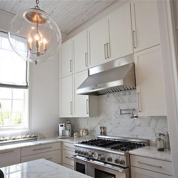 White Plank Ceiling Design Ideas