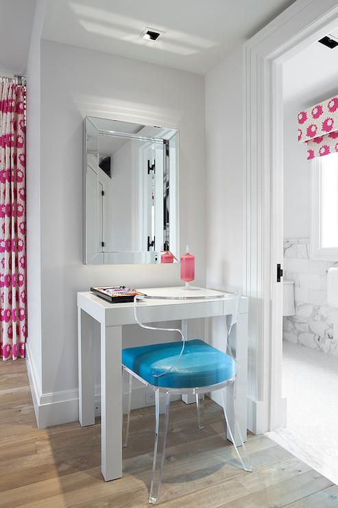 Lucite Klismos Chair  Asian  bedroom  Melanie Morris Design