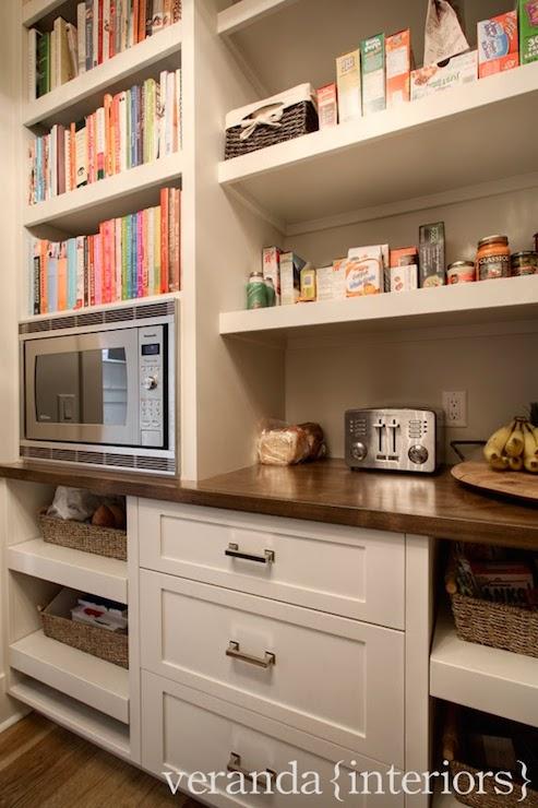 Microwave in Pantry  Transitional  kitchen  Veranda