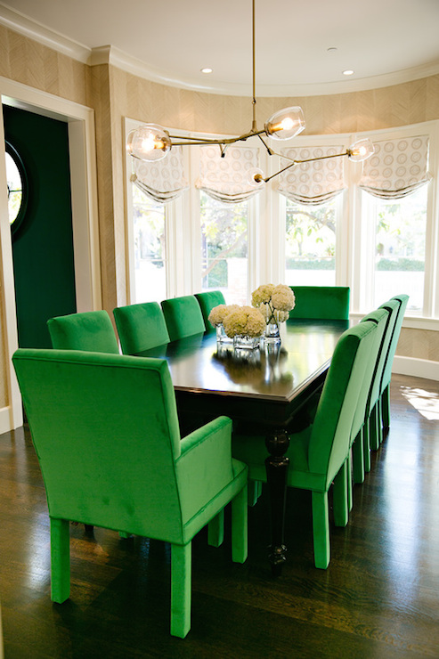 green dining room chairs wedding chair covers exeter contemporary evars and anderson
