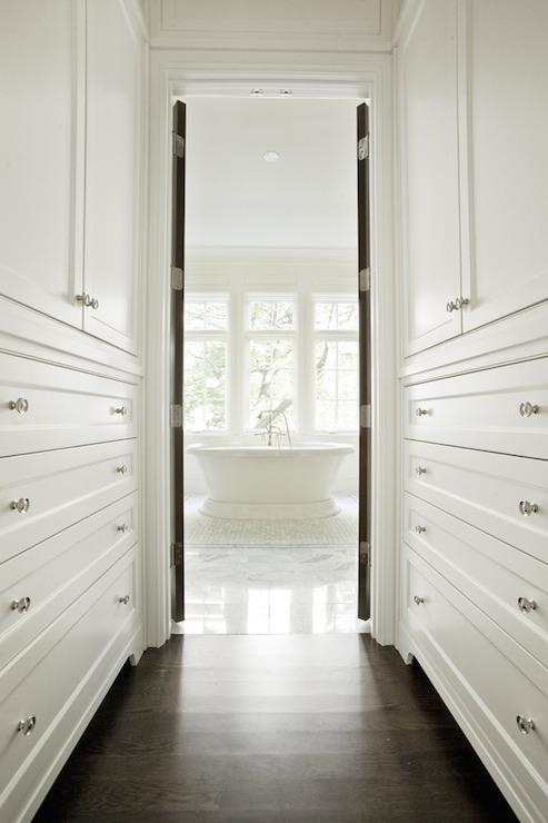 Walk Through Closet Transitional Closet PLD Custom Homes