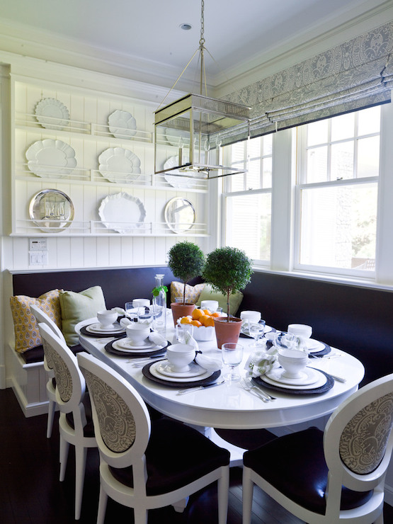 kitchen island chairs with backs round table and white cabinets dark wood floors ...