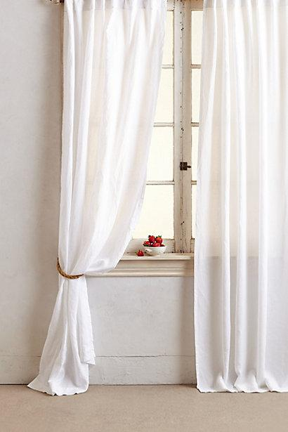 Dove White Linen Window Drapes And Curtains  Half Price
