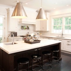 Island Kitchen Hood Glass Storage Containers Two Tone Cabinets - Transitional ...
