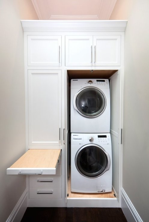 Pull Out Ironing Board  Transitional  laundry room  Marsh and Clark