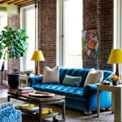 Bright Colored Accent Chairs Vanity And Chair Turquoise Tufted Sofa - Eclectic Living Room Tilton Fenwick