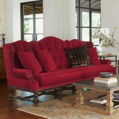 Loveseat Sleeper Sofa Leather Protector For Sectional Peggy Red