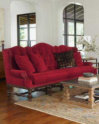 anthropologie sofa sofas online ireland peggy red