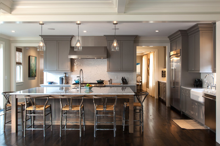 kitchen counter stools with backs home depot tile backsplash gray shaker cabinets - contemporary ...