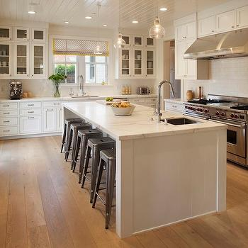 Kitchen Island with Turned Legs  Transitional  kitchen