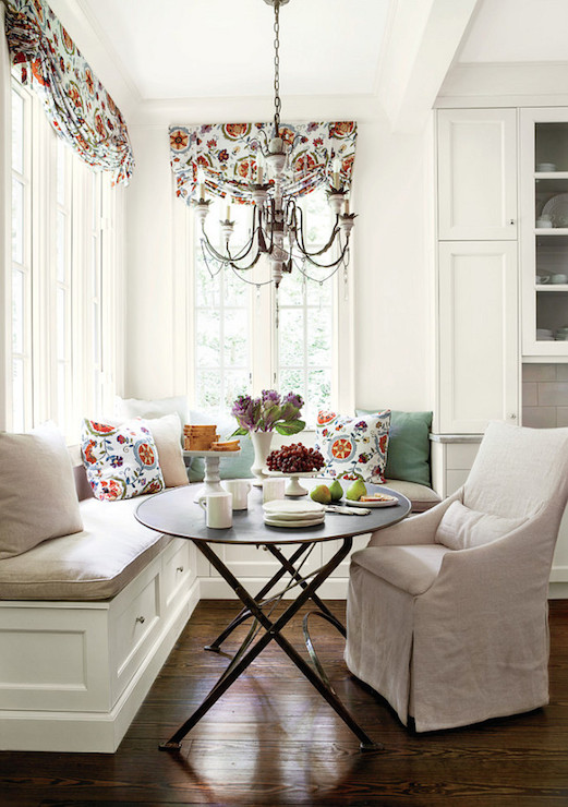slipcovered dining chair wisconsin union chairs beige banquette seating design ideas