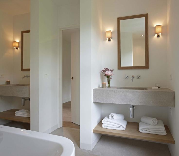 concrete sinks contemporary bathroom