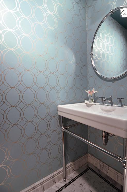 Darcy White  Silver Wallpaper Design Ideas