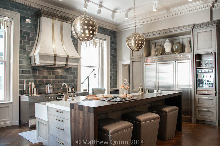 Walnut Countertop  Contemporary  kitchen  Matthew Quinn
