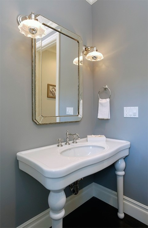 Parisian Pedestal Sink  Transitional  bathroom  Core