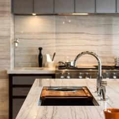Contemporary Kitchen Faucet Gadget Gifts White Macaubas Quartzite - ...
