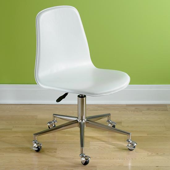 White Button Tufted Adjustable Antiqued Brass Caster Desk
