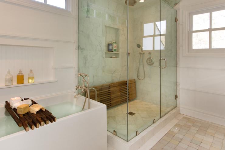 Bathtub Ledge  Transitional  bathroom  Thea Home Inc