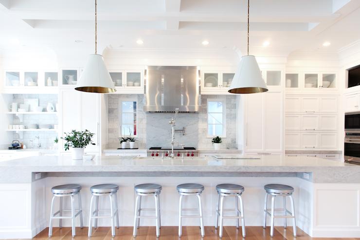 long kitchen island moen faucets warranty extra transitional benjamin