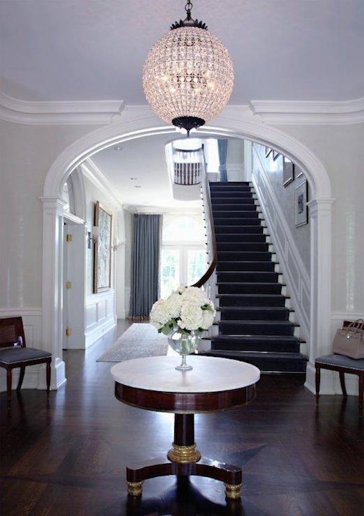 Round Foyer Table  Traditional  entrancefoyer  SB Long Interiors