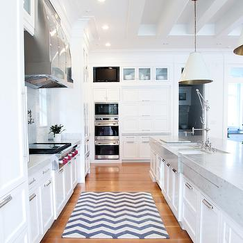 kitchen island with cooktop slate appliances marble waterfall edge - transitional benjamin ...
