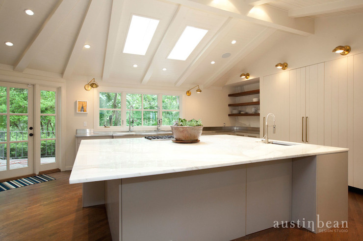 white kitchen island with seating shelves for extra large - contemporary ...