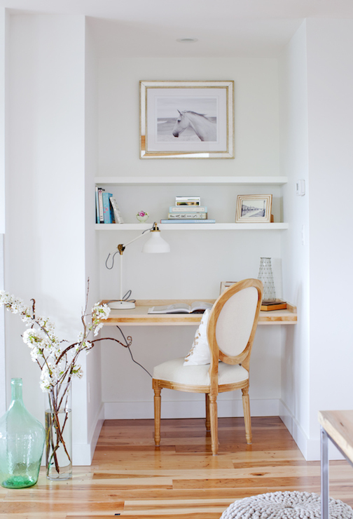 Desk Nook  Transitional  living room  HGTV